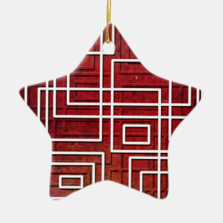 Pipeline Double-Sided Star Ceramic Christmas Ornament