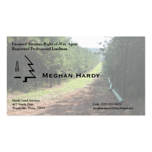 Pipeline Right-of-Way Business Cards