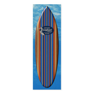 Pipeline Surfboard Bookmark Mini Business Card