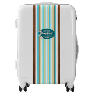 Pipeline Surfboard Hawaiian Competition Striped Luggage