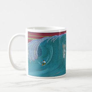 Pipeline Surfer © Warren Slater Coffee Mugs