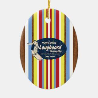 Pipeline Vintage Surfboard Ornament