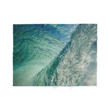 Beach Themed Pipeline Wave Fleece Blanket