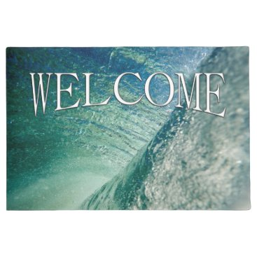 Beach Themed Pipeline Wave Welcome Mat