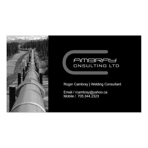 Pipeline Welder Business Card
