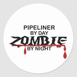 Pipeliner Zombie Classic Round Sticker
