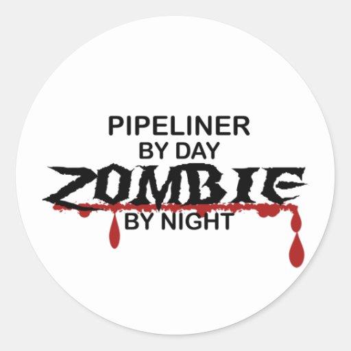 Pipeliner Zombie Round Sticker