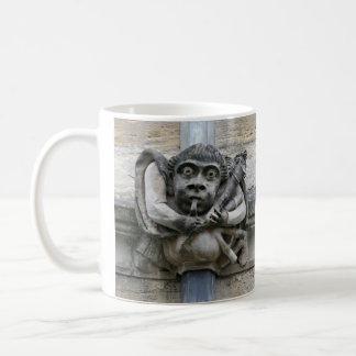 Piper and jester gargoyle mug