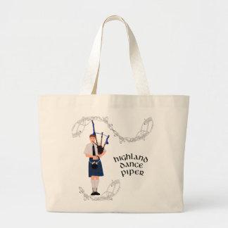 PIPER Blue Plaid Tote Bag