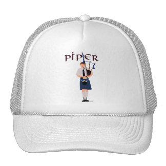 PIPER Blue Plaid Trucker Hat