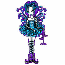 cute, tutu, tattoo, fairy, faerie, fae, faery, fairies, piper, fantasy, tank, top, shirt, art, myka, jelina, shirts, teal, purple, characters, Photo Sculpture with custom graphic design