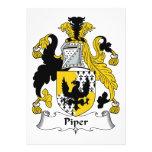Piper Family Crest Invitations