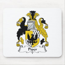 Piper Family Crest Mousepad