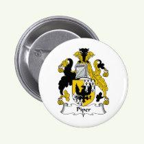 Piper Family Crest Button