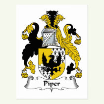Piper Family Crest Postcard