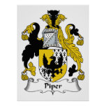 Piper Family Crest Poster