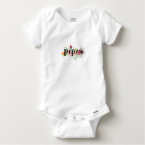 Piper Floral Personalized Baby Onesie