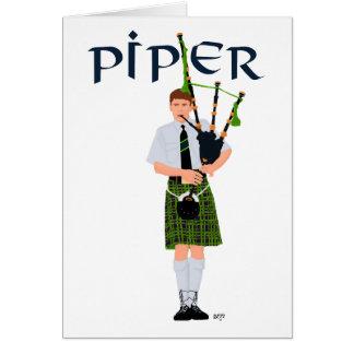PIPER Green Plaid Card