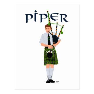PIPER Green Plaid Postcard
