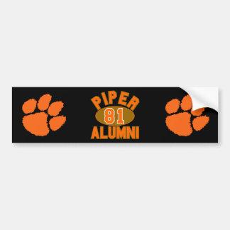 Piper High Class of 1981 Alumni Reunion Bumper Sticker