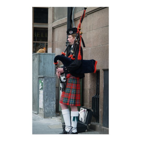 Piper on the Royal Mile Poster
