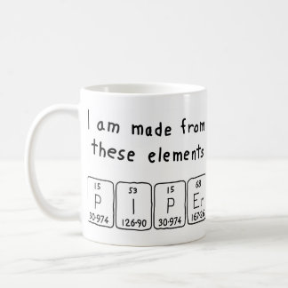 Piper periodic table name mug