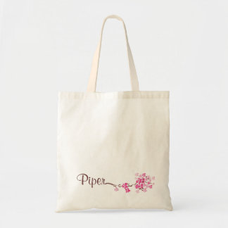 """Piper"" Personalized Cherry Blossom Tote Bag"