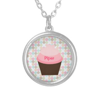 """""""Piper"""" Pink Cupcake Necklace Pendant"""