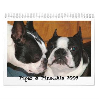 Piper & Pinocchio 2009 Calendars