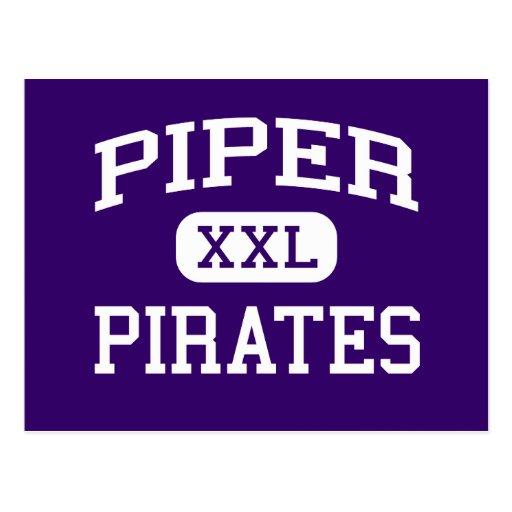 Piper - Pirates - High School - Kansas City Kansas Postcard