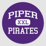 Piper - Pirates - High School - Kansas City Kansas Round Stickers