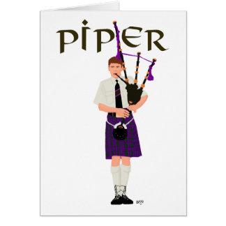 PIPER Purple Plaid Card