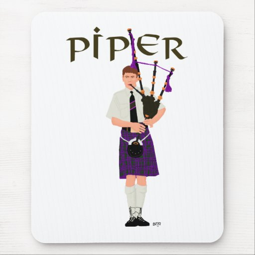 PIPER Purple Plaid Mouse Pads