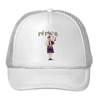 PIPER Purple Plaid Trucker Hat