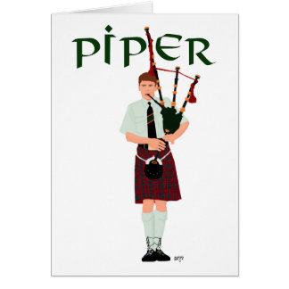 PIPER Red Plaid Card