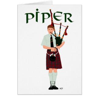 PIPER Red Plaid Card