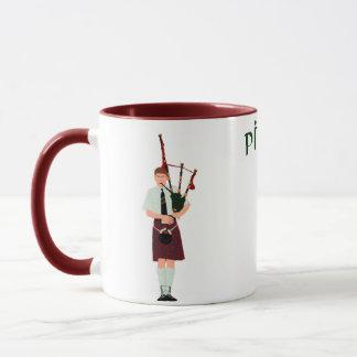 PIPER Red Plaid Mug