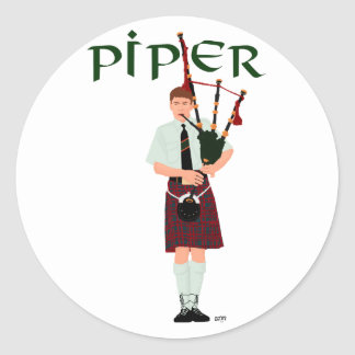 PIPER Red Plaid Stickers