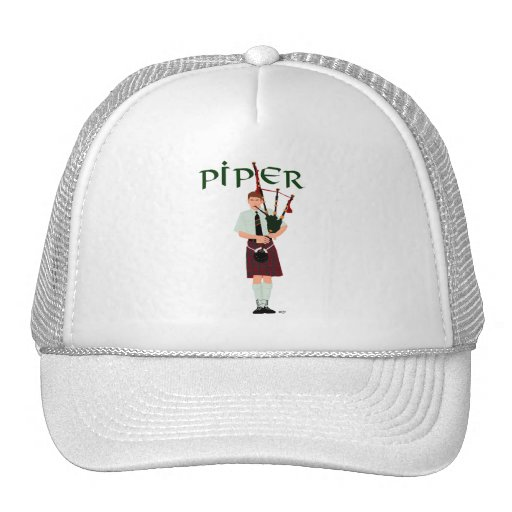 PIPER Red Plaid Trucker Hat