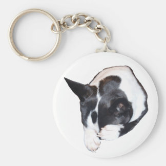 Piper - Sleeping Basic Round Button Keychain
