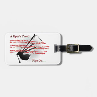 Piper's Creed Luggage Tag