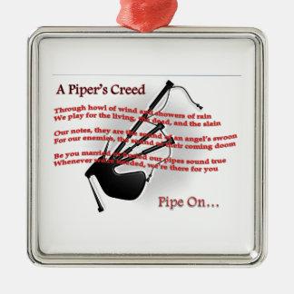 Piper's Creed Metal Ornament