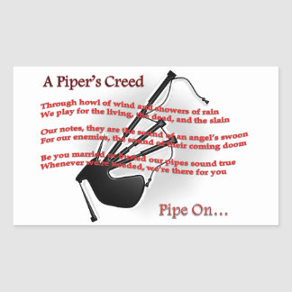 Piper's Creed Rectangular Sticker