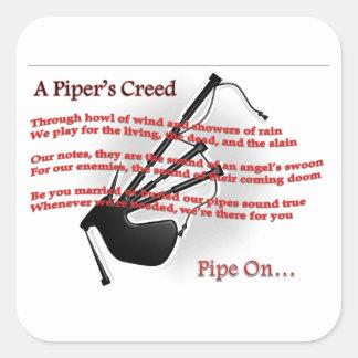 Piper's Creed Square Sticker