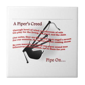 Piper's Creed Small Square Tile