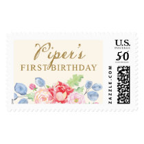 Piper's First Birthday Postage