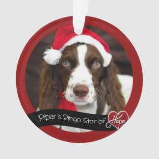 Piper's Ringo Star of Hope Christmas Ornament