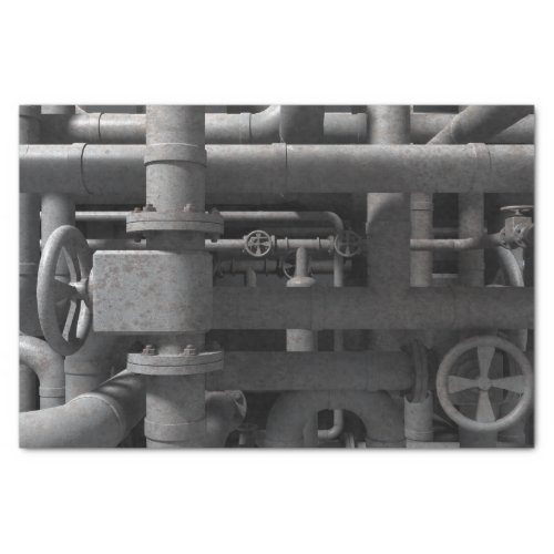 Pipes and Valves Tissue Paper