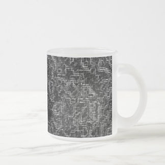 Pipes 10 Oz Frosted Glass Coffee Mug