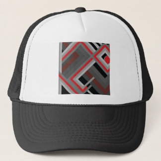 Pipes Retro Squares Photo Colorful Design Trucker Hat